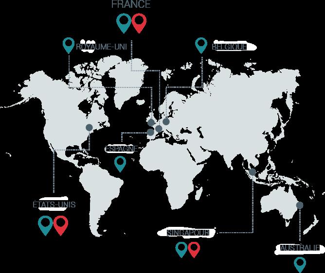 Localisation des centres de production courrier et data centers Esker