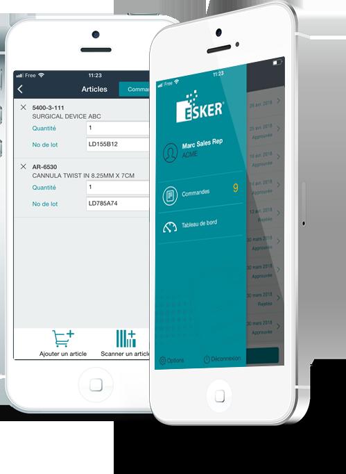 Application mobile de gestion des commandes clients - passer et suivre les commandes à distance