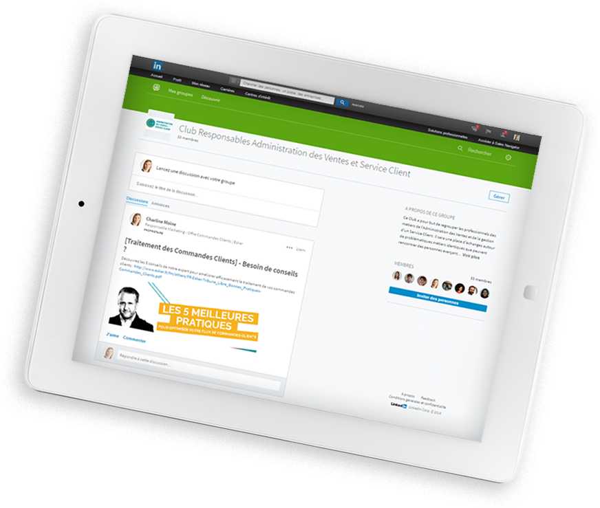 Groupe Linkedin ADV et Service Client
